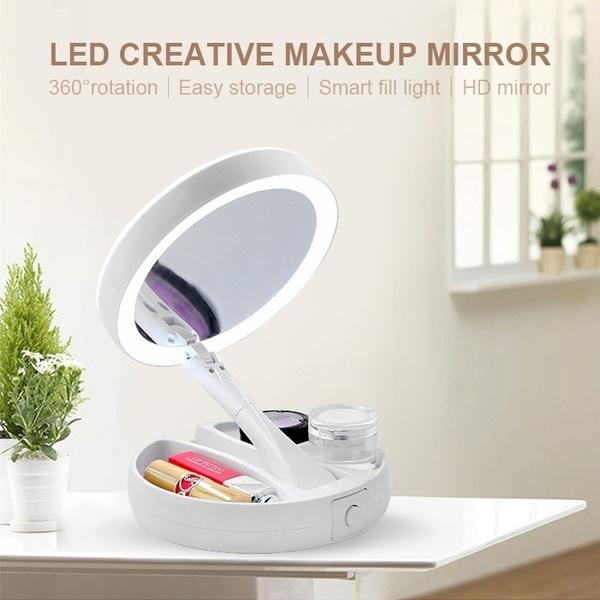 Makeup Mirrors, Pocket, led, Beauty