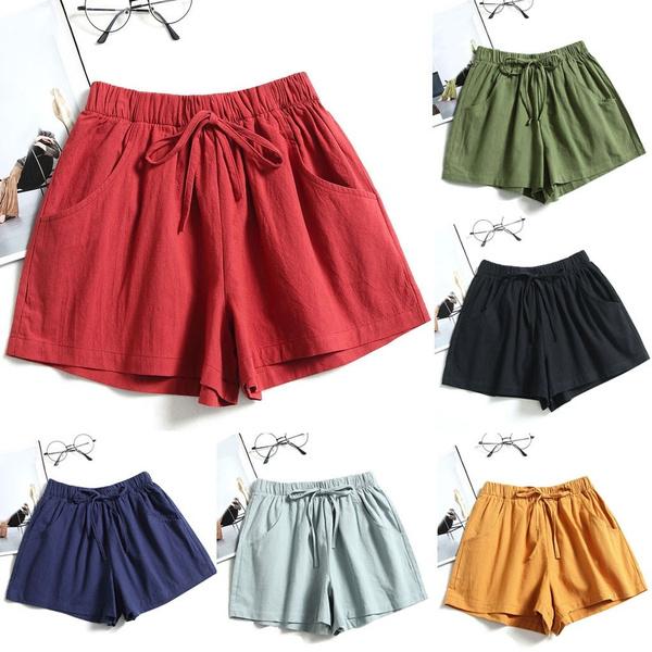 Summer, elastic waist, Waist, drawstringshort