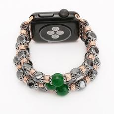 elasticwatchbandforiwatch, forapplewatchband44mm, foriwatch5432140mm44mm, hematitebraceletforapplewatch