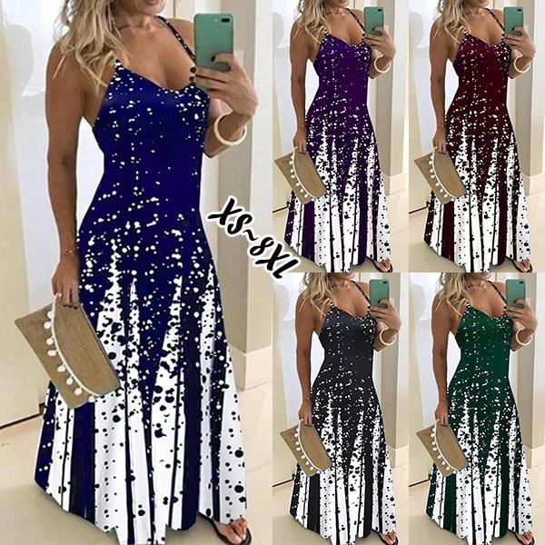 Sleeveless dress, Plus Size, Necks, Summer