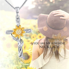 Sterling, leaf, Jewelry, Sunflowers