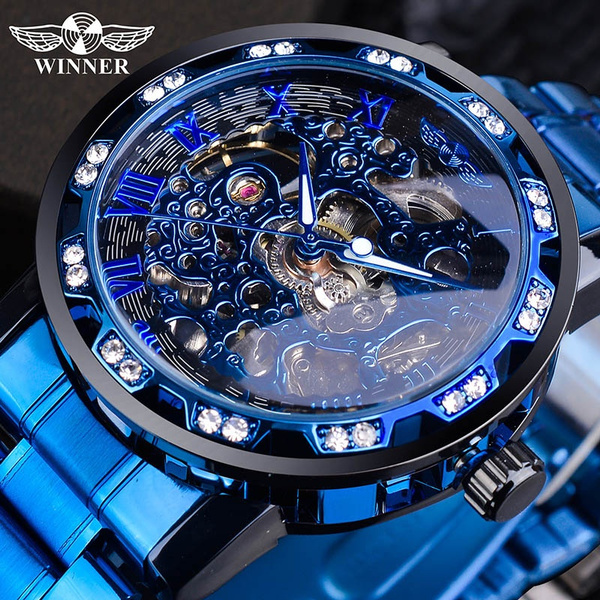 Blues, automaticmechanicalwatch, Stainless Steel, Skeleton