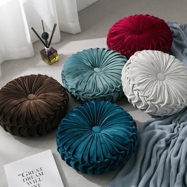 Sofas, velvetdecorativepillow, Pleated, plushpillow