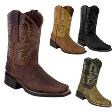 Fashion, Leather Boots, Spring/Autumn, XL