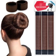 donuthair, hairbun, brown, easyhairbunmaker