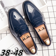 casual shoes, mensleatherslipon, leather, menspennyloafer