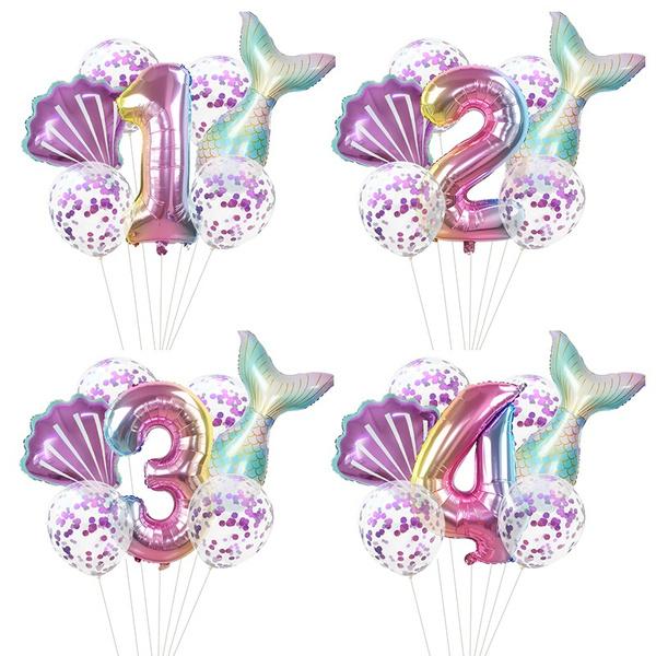 mermaidtail, heliumballon, Toy, Shower