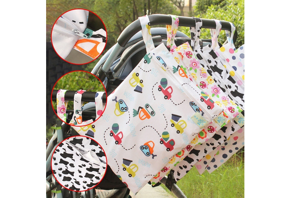 Zip Wet Dry Bag For Infant Baby Kid Cloth Diaper Nappy Waterproof Pouch Reusable