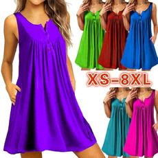 Summer, Plus Size, pleated dress, Vestidos