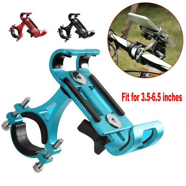 Bike Mobile Phone Holder Stand Aluminum Alloy Cycling Bicycle Bracket Anti-slip