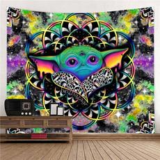 Yoga Mat, eye, hippiewalldecor, alien