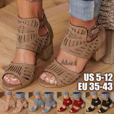 Summer, chunkyheelsandal, Buckles, summer shoes