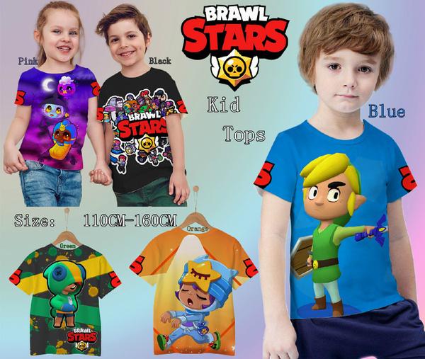 brawlstars3dtshirt, Shorts, 3dprintkidsbrawlstarstshirt, Sleeve