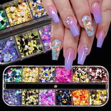 butterfly, nailssticker, Glitter, art