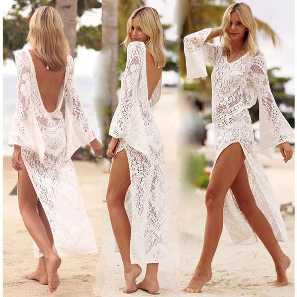blouse, Deep V-Neck, Lace, Halter