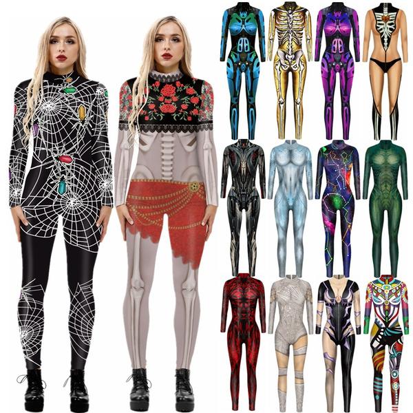 Skeleton, pants, Long Sleeve, Halloween Costume