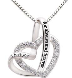 Cubic Zirconia, crystal pendant, Love, Jewelry