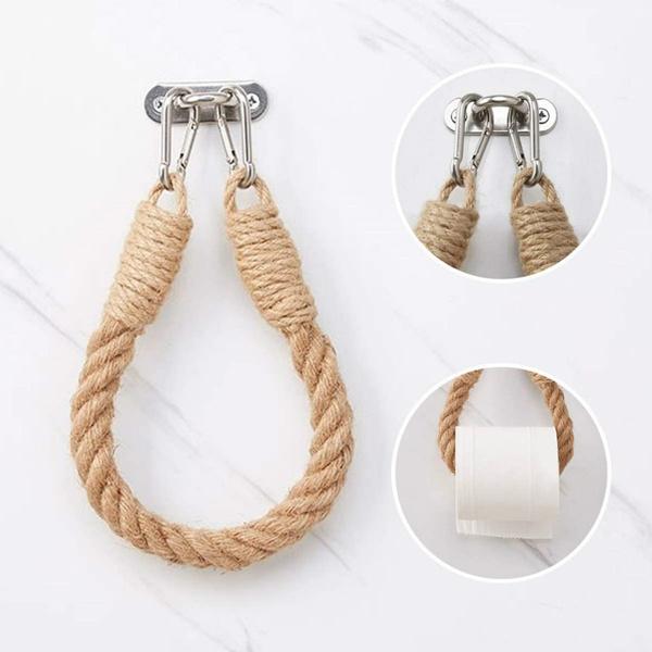 Rope, Bathroom, towelhangingrope, bathroomdecor