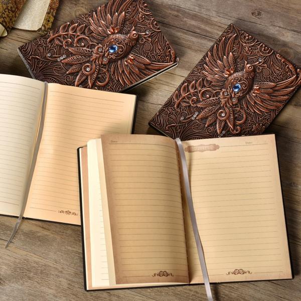 Antique, vintagenotebook, journaldiary, leathernotebook