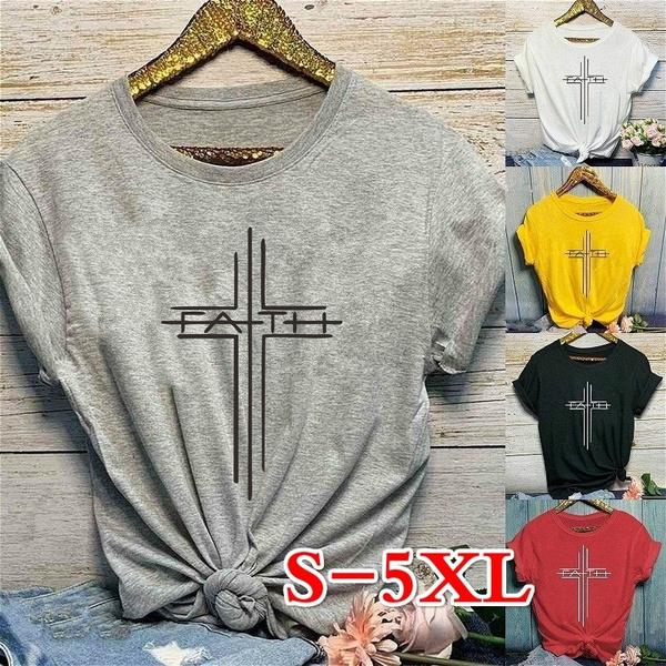 Plus Size, Cotton Shirt, Shirt, letter print