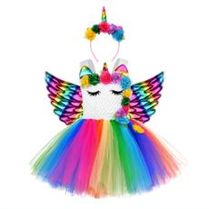 birthdayclothesoutfit, rainbow, Dress, birthdaygiftforgirl