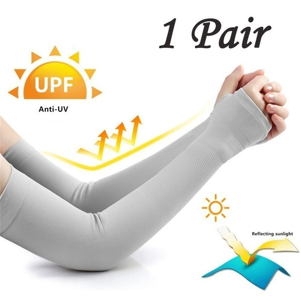 Unisex Sunscreen Ice Silk Sleeves Outdoor Riding Driving Gloves Arm Sleeves