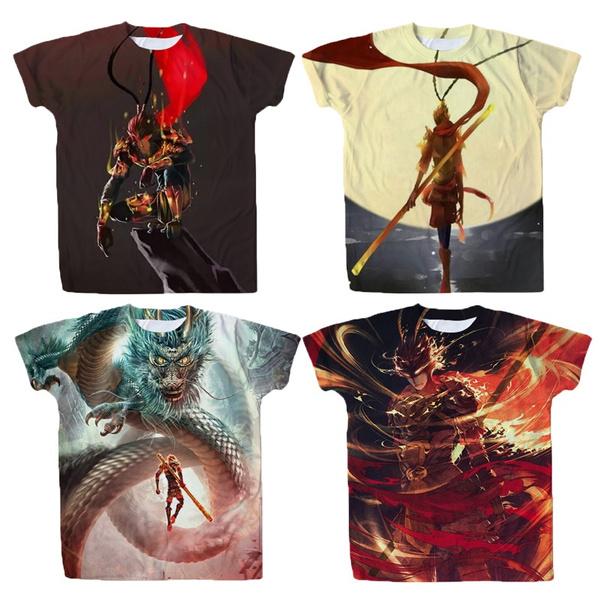 novel, monkey, children's clothing, summer t-shirts