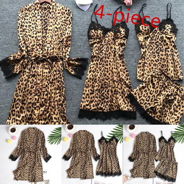 Lace, lacesleepwear, straplacesleeploungepajama, Leopard