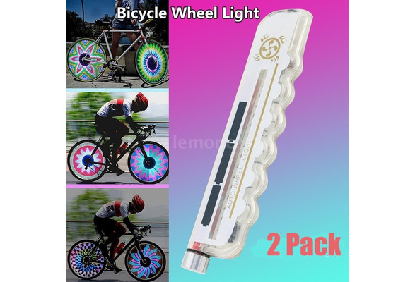 4 X Neon LED Flash Light Lamp Bike Car Tire Tyre Wheel Valve Sealing Caps HC