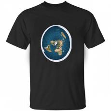 Fashion, Cotton Shirt, Cotton T Shirt, flatearthunisextshirt