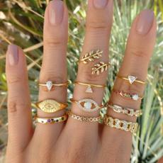 pavesetting, gold, ringset, boho