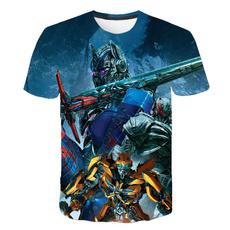 Summer, Shirt, Tops, Robot