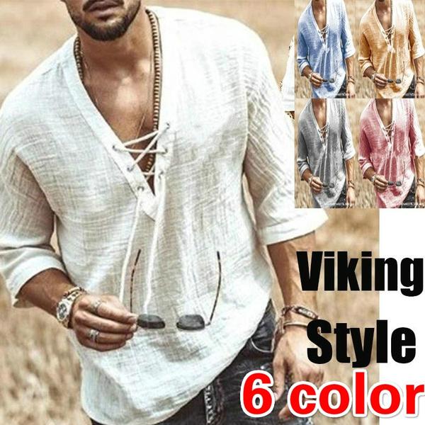 vikingshirt, Fashion, Medieval, Summer