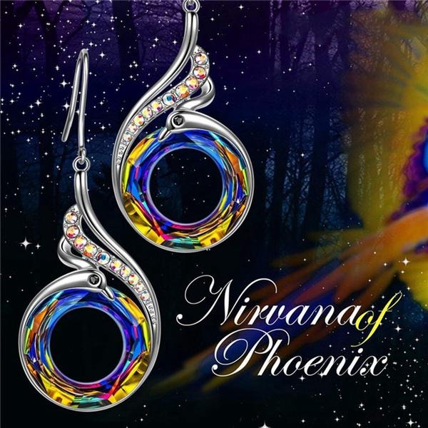 peacock, Multi, Dangle Earring, Jewelry