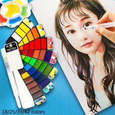 watercolorpigmentfordrawing, solidwatercolorpaintset, Pen, art