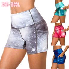 runningshort, Plus Size, high waist shorts, printedtrackshort