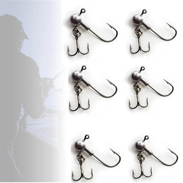 Exposed Lead Jig Head Barbed Hook 5X//lot Soft Lure Jigging Hook Fishing HooksYYY