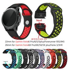garminfenix3band, garminwatchband, garminfenix6band, Silicone