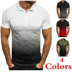 Summer, Men, Polo Shirts, Sleeve