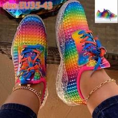 rainbow, Sneakers, Plus Size, rainbowshoe