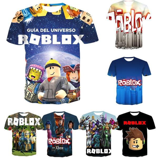 New Jersey Roblox 2020 Summer Kids Fashion New Children S Wear Roblox 3d Color Printing Cool Digital Printing Tshirt 110 160 Wish