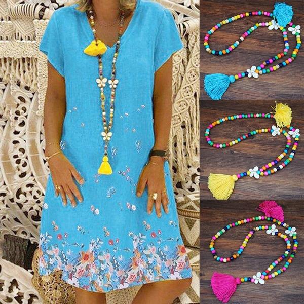 butterfly, woodbeadnecklace, Chain, longwoodbeadnecklace