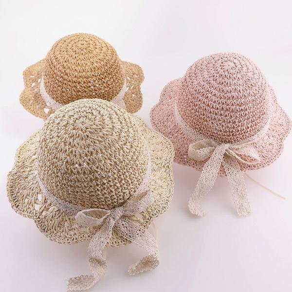 Summer, bowbeachhat, Beach hat, Lace