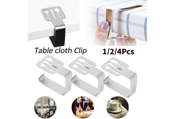 8Pc Stainless Steel Tablecloth Cover Clips Clamps Holder Party Picnic Supplies