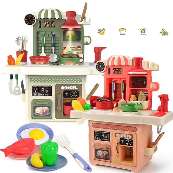 Little Cooks Kitchen Play Kitchen For Babies Toy Accessories Set Baby Kitchen Playset With Realistic Sounds Wish