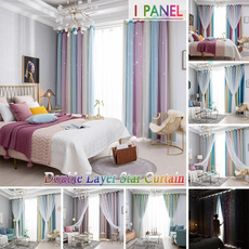 bedroomcurtain, Star, Colorful, Home textile