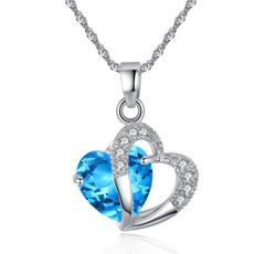 Sterling, Heart, amethystheartpendant, sterling silver