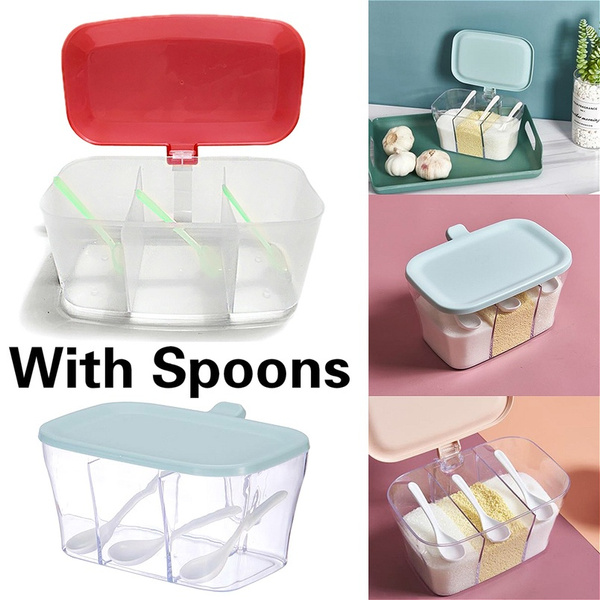 Box, saltstorageholder, Kitchen & Dining, saltservingspoon