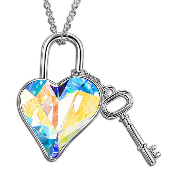 rainbow, crystal pendant, Jewelry, Heart