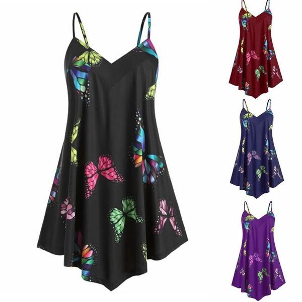 topsforfemale, Summer, irregualshirt, Plus Size
